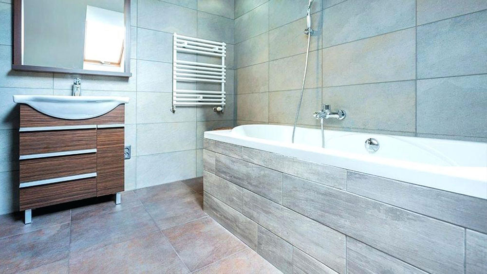 porcelain tile bathrooms