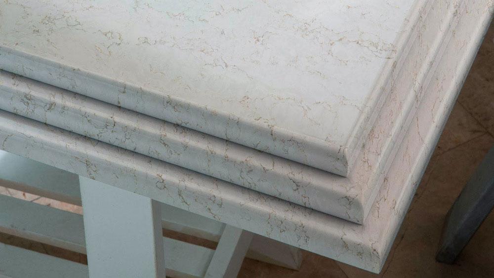 quartz countertop edges